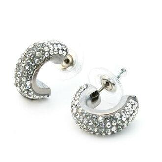 施华洛世奇耳环玛吉黑钻石施华洛世奇施华洛世奇水晶耳环妇女
