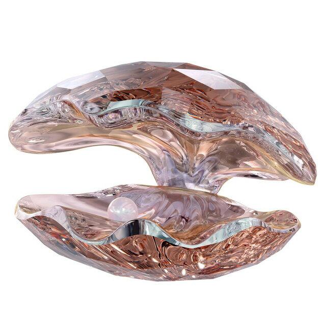 スワロフスキー 置物 SWAROVSKI フィギュア 多面カット ガラス像 PEARL OYSTER,VINTAGE ROSE パール オイスター 牡蛎 真珠 1075308 送料無料