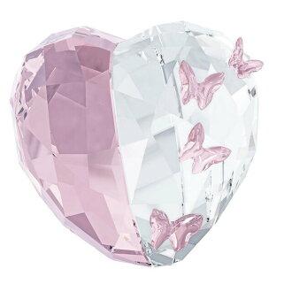 스와로브스키 작은 조상 SWAROVSKI 러브 하트 Violet 심장 및 나비 모티브 크리스탈 유리 M 사이즈 클리어/라이트 1143412