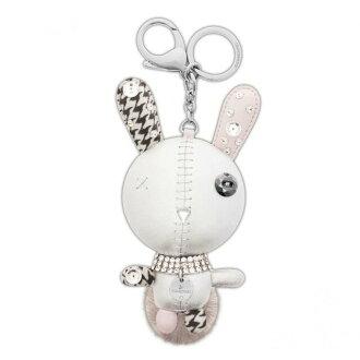 Swarovski SWAROVSKI Mathilde Silver Crystal Bunny cute three-dimensional form 'Mathilde' bag charm key ring 5020921