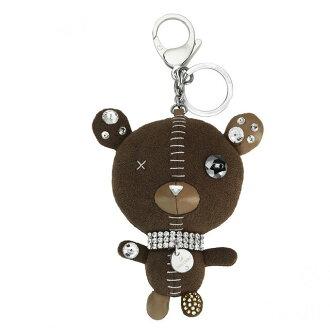 Swarovski SWAROVSKI Arnold Brown cute Crystal bears form a three-dimensional 'Arnold' bag charm key ring 5039235