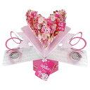 セカンドネイチャー SECOND NATURE ポップアップカード 母の日 マザーズデー フローラル ハート MPOP020 ピンク イベント おしゃれ か…