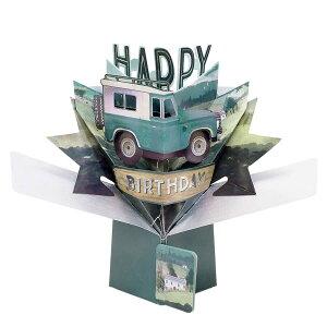 セカンドネイチャー ポップアップカード バースデー ランドローバー POP175 誕生日 車 3D メッセージカード イベント おしゃれ かわいい 海外 3D メッセージカード 季節行事 絵葉書 グリーティ