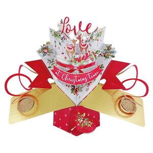 セカンドネイチャー SECOND NATURE ポップアップカード クリスマスカード レインディア ラブ XPOP058 クリスマス トナカイ 3D メッセージカード イベント おしゃれ かわいい 海外 3D メッセージカー