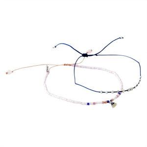 チャンルー CHAN LUU ブレスレット ラップブレス レディース メンズ 天然石 レザー ブランド シングル ストーンミックス 正規品 母の日プレゼント BS-5254 Limoges Mix Dainty Bracelet Set シングルブレス