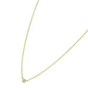 ティファニー TIFFANY&Co. ネックレス 一粒ダイヤ ゴールド 新品 ダイヤ 一粒 ミニ バイザヤード ペンダント 1粒ダイヤモンド シンプル レディース ブランド アクセサリー ダイヤモンド 母の日