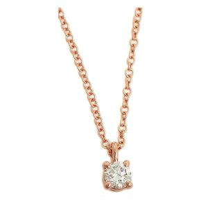 ティファニー ネックレス 一粒ダイヤ TIFFANY&CO. ソリティア ダイヤモンド ペンダント .12ct 16in 18R 30420837 ローズゴールド ダイヤ 送料無料