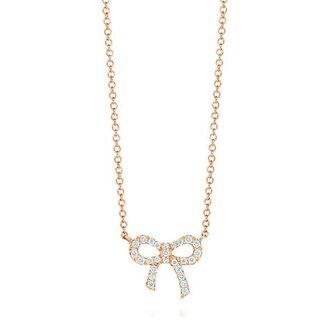 Tiffany tiffany &co. necklaces bow pendant Metro Metro Ribbon mini 16 in 18KRG x, entrance celebration pendant diamond 32438385 ladies simplicity brand new brand popular women new birthday gift Christmas white mother