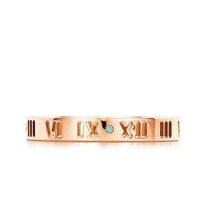 ティファニー TIFFANY アトラス リング ダイヤモンド 18R ローズ ゴールド ATLAS 指輪 ダイヤ レディース 30480589 送料無料