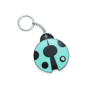 蒂凡尼瓢虫钥匙圈钥匙扣瓢虫 TIFFANY & co 皮革移动蒂芙尼蓝色 fs2gm