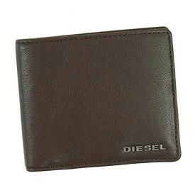 ディーゼル DIESEL 財布 X04459 PR227 H6385 HIRESH S 小銭入れ付き 二つ折り財布 COFFEE BEAN/NECTARINE ダークブラウン+オレンジ