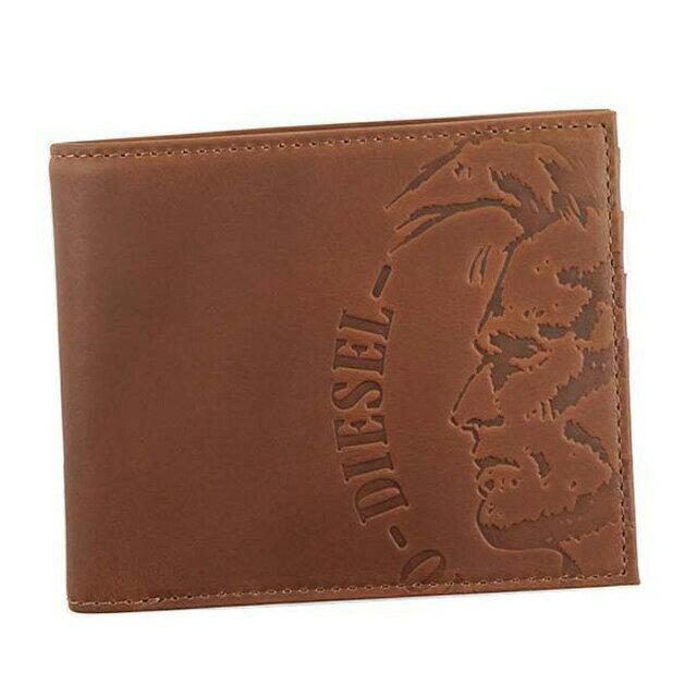 ディーゼル DIESEL 財布 X04763 PR160 T2166 HIRESH S 小銭入れ付き 二つ折り財布 MUSTANG ブラウン