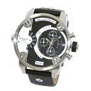 ディーゼル DIESEL DZ7256 クロノグラフ デュアルタイム メンズ 腕時計 ブラック+シルバー