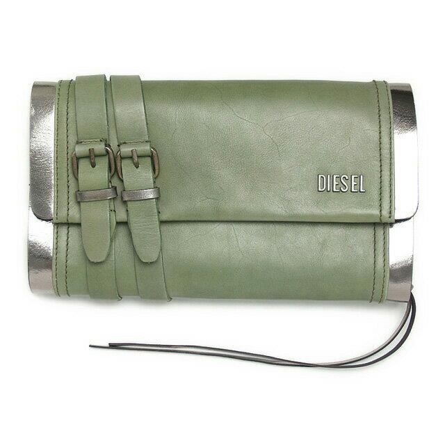 ディーゼル DIESEL バッグ X01725 PS945 H4547 クラッチバッグ セカンドバッグ MILITARY GREEN/GUN METAL カーキグリーン系