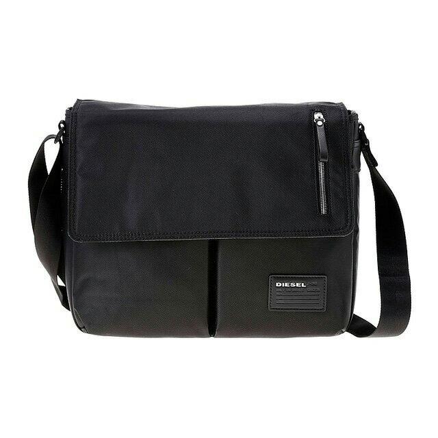 ディーゼル DIESEL バッグ X02999 P0409 H1669 斜めがけショルダーバッグ BLACK/BLACK ブラック
