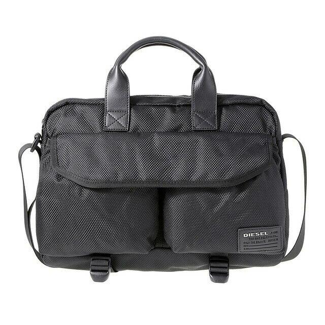 ディーゼル DIESEL バッグ X04012 PR027 T8013 2way ビジネスバッグ 斜めがけバッグ ブリーフバッグ BLACK ブラック+ブルー