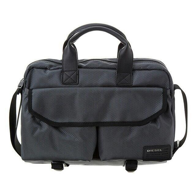 ディーゼル DIESEL バッグ X04012 PR027 T8085 2way ビジネスバッグ 斜めがけバッグ ブリーフバッグ CASTLEROCK グレー+オレンジ系