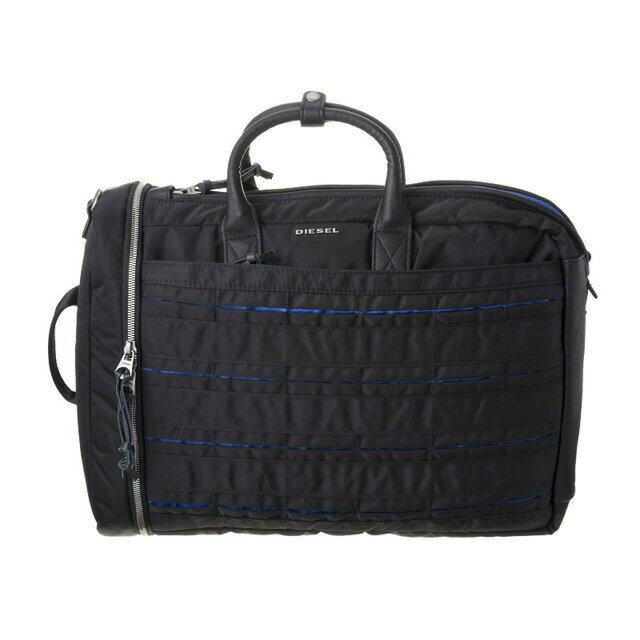 ディーゼル DIESEL バッグ X04817 PR886 H1146 3way ブリーフケース リュックサック ビジネスバッグ バックパック BLACK/BLUE ブラック+ブルー