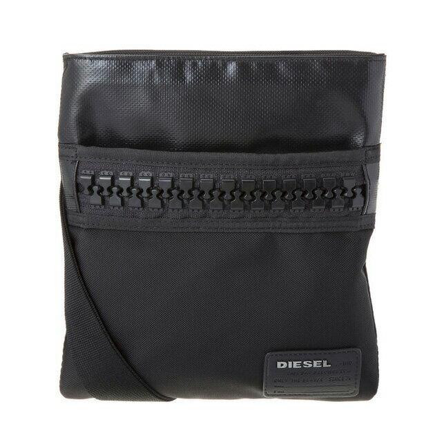 ディーゼル DIESEL バッグ X04967 PR520 H1669 斜めがけバッグ ミニショルダー BLACK/BLACKブラック+蛍光グリーン