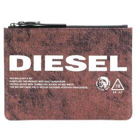 ディーゼル DIESEL ポーチ X05655 PR573 H6809 LUSINA フラットポーチ 小物入れ クラッチポーチ RED レッド系