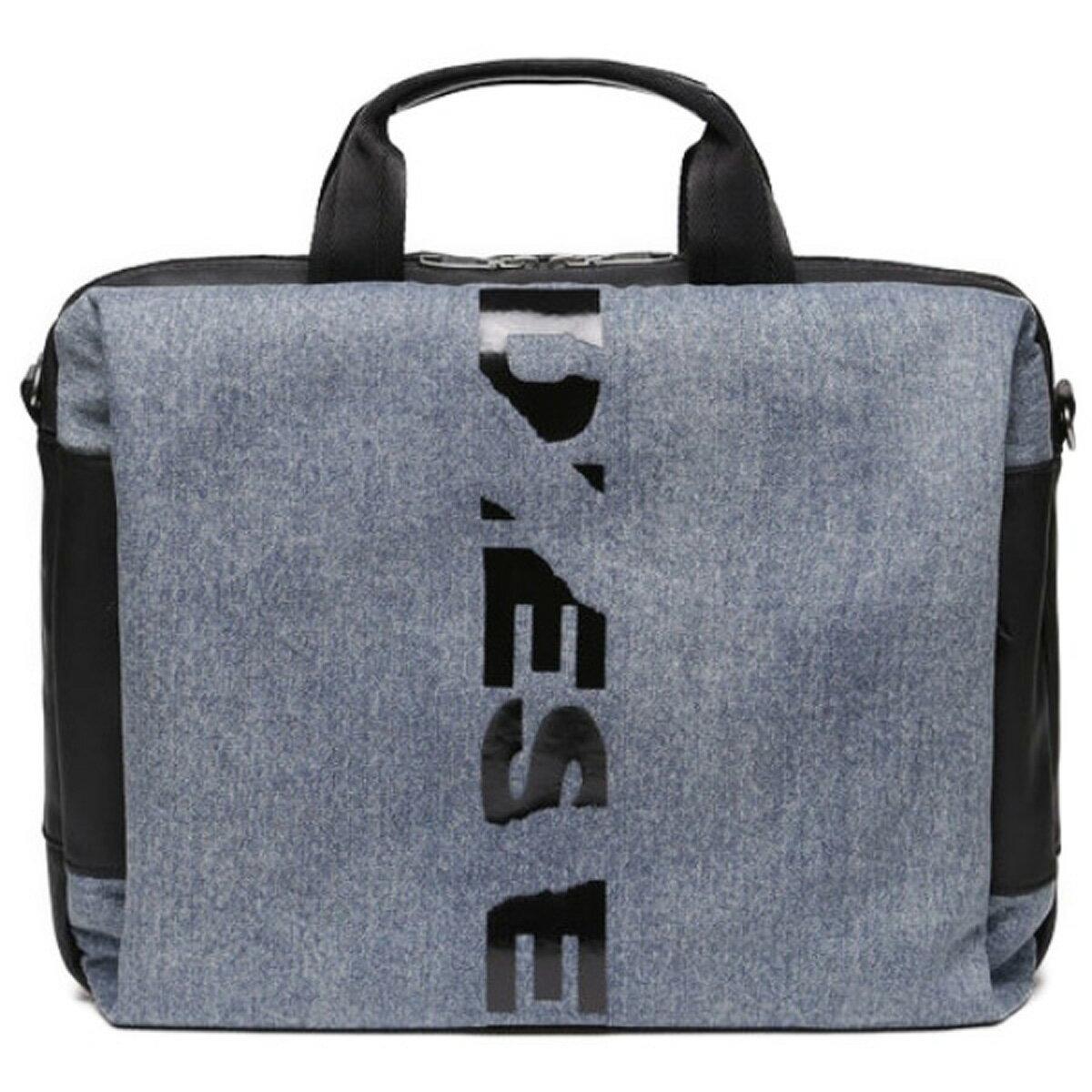 ディーゼル DIESEL バッグ X05781 P1826 H4933 D-SUBTORYAL BRIEF 2way ブリーフケース ビジネスバッグ 斜めがけバッグ ショルダーバッグ BLUE JEANS ブルー+ブラック/レッド