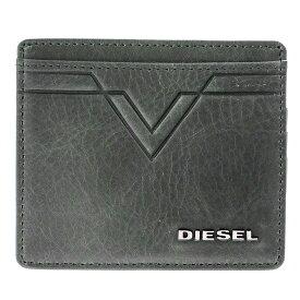 ディーゼル DIESEL カードケース X03936 PR227 T8013 スリム クレジットカードケース 名刺入れ ブラック