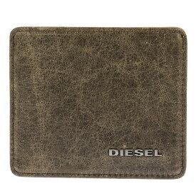 ディーゼル DIESEL カードケース X04383 P1075 H6184 スリム クレジットカードケース 名刺入れ QUARZ/SILVER SAGE ダークブラウン系+カーキ系