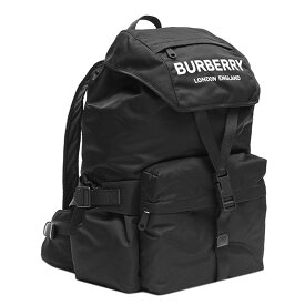 バーバリー BURBERRY リュックサック 8010608 BACKPACK ロゴプリント ナイロン バックパック BLACK ブラック