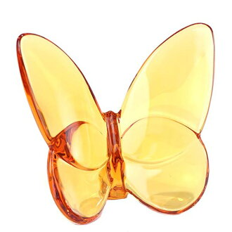 Baccarat Baccarat PAPILLON FIGURE papillon figure skating lucky butterfly ornament umber amber 2102549