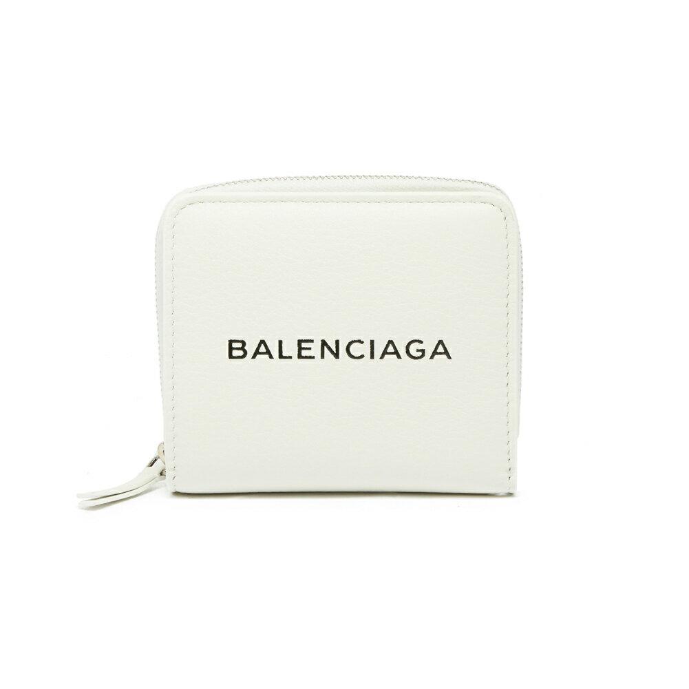 バレンシアガ BALENCIAGA 財布 折りたたみ財布 二つ折り財布 490618 DLQ4N 9060 EVERYDAY LOGO BILLFOLD WALLET BLANC/L NOIR ホワイト