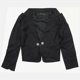韓国 子供服 ラブフォーエタニティ LOVE FOR ETERNITY ビジューボタン付き ジャケット 単品 スーツ 女の子 150cm ブラック 3033