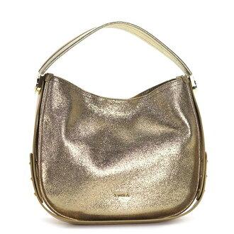 FURLA FURLA 袋 BFM6 LUNA L 流浪汉卢娜大流浪汉 2way 挎包 783060 黄金品牌包女士皮革全新闲置的礼品妇女生日