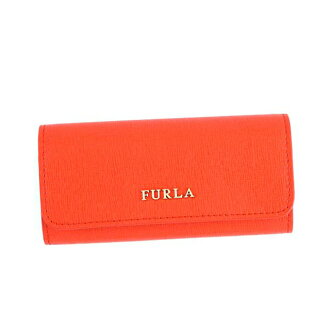 FURLA FURLA key case RJ09 BABYLON KEYCASE LUNGO Babylon Lungo 6 key holder 817164 Orange Leather brand new unused gifts girls birthday