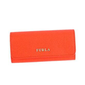 FURLA FURLA 关键案例 RJ09 巴比伦匙音译巴比伦音译 6 钥匙持有人 817164 橙色皮革全新闲置的礼品女孩生日