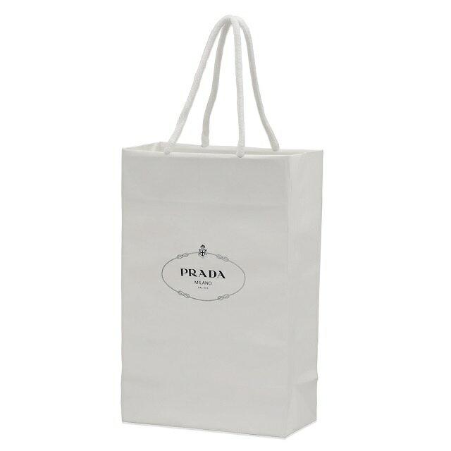 プラダ PRADA ショップ袋 ショッパー 1枚 Aセット ホワイト 白 縦型 手持ちつきショップ袋 サブバッグ ラッピング ギフトバッグ ブランド 通販 活用 使い道 紙袋 収納 再利用 リメイクバッグ ハンドメイド クラフト 意味 10代 20代 30代 40代 50代 60代