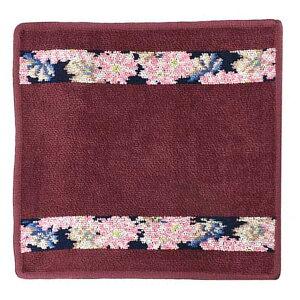 フェイラー FEILER ハンカチ ハンドタオル 25cm WASH CLOTH COSMOS BLUE WINE RED 114 ウォッシュクロス コスモス ブルー ワインレッド 花柄 ボタニカル