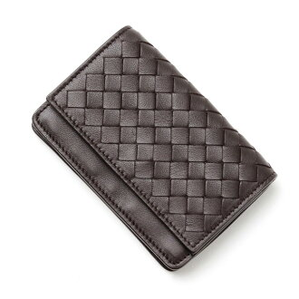 Bottega Veneta BOTTEGA VENETA 133945 V001U2006 intrecciato nappa leather card case card put espresso dark brown-dark brown