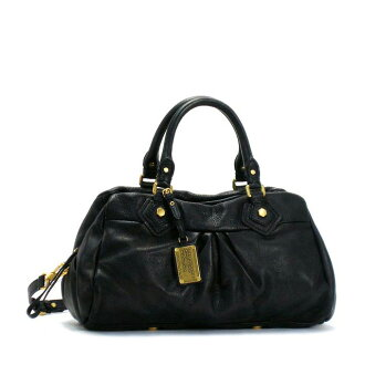 袋也包肩斜在皮革手提包马克马克 · 雅各布斯马克由 MARCJACOBS 黑色 Womens M3PE090 黑 001