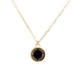 マークジェイコブス Marc Jacobs ネックレス ペンダント アクセサリー M0008546-062 Logo Disc Enamel Pendant ロゴ ディスク エナメル ペンダント Black/Oro ブラック+ゴールド