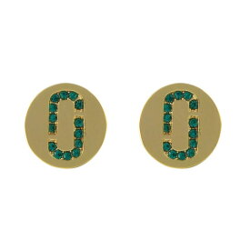 マークジェイコブス Marc Jacobs ピアス アクセサリー M0011472-381 Icon Crystal Studs クリスタル「J」ロゴモチーフ ディスク スタッド ピアス Emerald/Gold エメラルド+グリーン