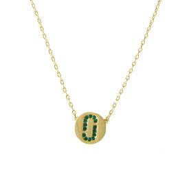 マークジェイコブス Marc Jacobs ネックレス ペンダント アクセサリー M0011495-381 Icon Crystal Pendant クリスタル「J」ロゴモチーフ ペンダント Emerald/Gold エメラルド+ゴールド