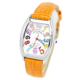 pierre talamon ピエールタラモン 腕時計 pt-8500l-1or キュービックジルコニア トノー型 レディースウォッチ 女性 オレンジ 送料無料