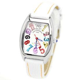 pierre talamon ピエールタラモン 腕時計 pt-8500l-1wh キュービックジルコニア トノー型 レディースウォッチ 女性 ホワイト 送料無料