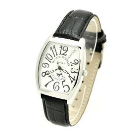 ミッシェルジョルダンスポーツ michel Jurdain SPORT 腕時計 天然ダイヤモンド入り トノー型 メンズ ウォッチ ブラック×ホワイト 送料無料
