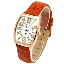 ミッシェルジョルダンスポーツ michel Jurdain SPORT 腕時計 天然ダイヤモンド入り トノー型 メンズ ウォッチ ブラウン 送料無料
