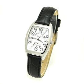 ミッシェルジョルダンスポーツ michel Jurdain SPORT 腕時計 天然ダイヤモンド入り SSトノー型 レディース ウォッチ ブラック×ホワイト 送料無料