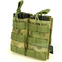 FLYYE Molle EV Universal Double Mag Pouch 【A-TACS森林ver】