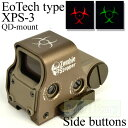 EoTech EXPS-3 タイプ ホロサイト QDマウントver Zombie Stopper TAN