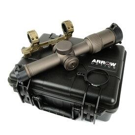 ARROW OPTICS 1-6x24 RAZOR HD GenII-E タイプ ライフルスコープ マウントセット デザートカラー ハードケース付き サバゲー,サバイバルゲーム,ミリタリー