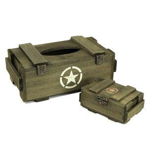 TANGO ティッシュケース & 小物入れ 木製ボックス セット サバゲー,サバイバルゲーム,ミリタリー